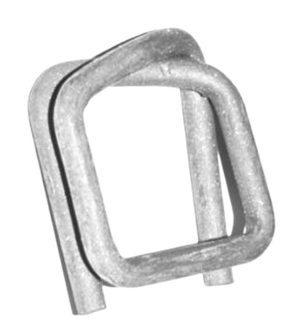 Metallverschlussklemmen für Gewebeband phosphatiert